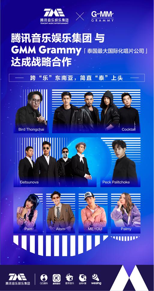 腾讯音乐娱乐集团牵手GMM 让全民K歌声成为史上最全泰音K歌胜地